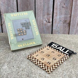 Bafflers Sealed Vintage Puzzle Game & 15 All 1973 Magic Square Puzzle Game